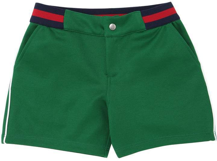 Gucci Cotton Blend Shorts W Web Waistband