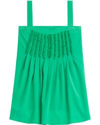 Green Silk Tank