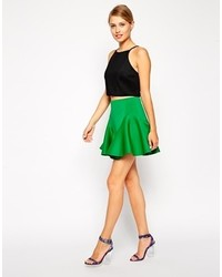 Skater skirt with fluting in scuba medium 113664