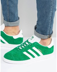 adidas Originals Gazelle Sneakers In Green Bb5477