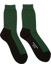 Comme des Garcons Comme Des Garons Homme Plus Black Green Colorblocked Socks