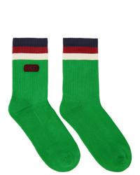 Gucci Green Logo Socks