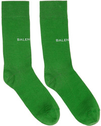 Balenciaga Green Logo Socks