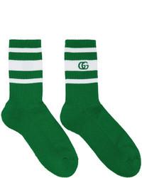 Gucci Green White Logo Running Socks