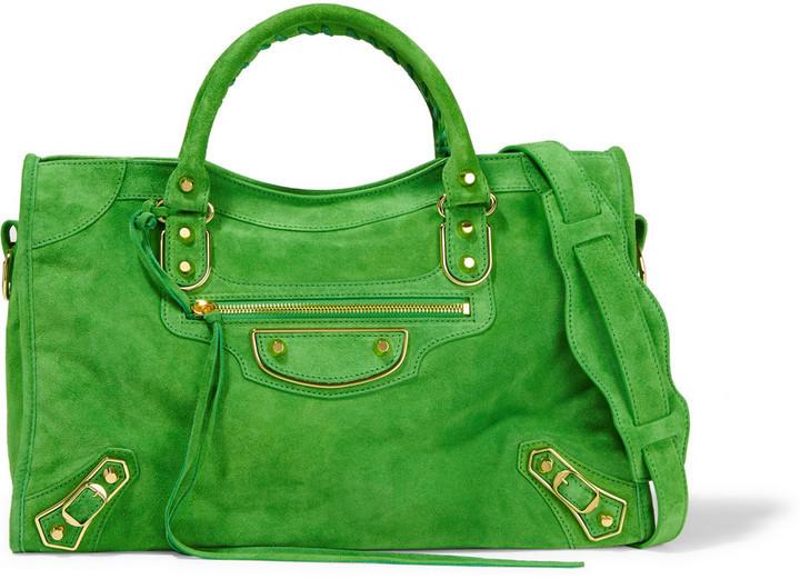 Balenciaga Suede Bag Green