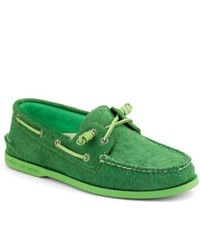 Sperry topsider shoes authentic original barrel lace boat shoe by jeffrey green pony hair medium 202651