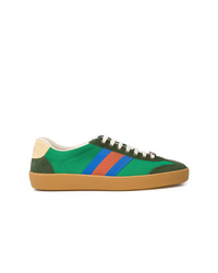 Gucci G74 Web Stripe Sneakers