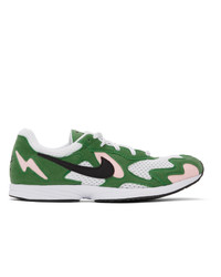 Nike Green And White Air Streak Lite Sneakers