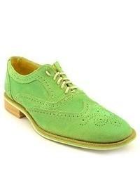 Giorgio Brutini Nolan Green Wingtip Suede Oxfords Shoes