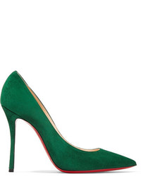 Decoltish 100 suede pumps forest green medium 3731604