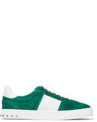 Valentino Garavani Flycrew Leather Panelled Suede Sneakers