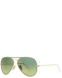 Ray-Ban Aviator Gradient Sunglasses Green