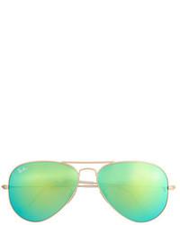 Ray-Ban Aviator Sunglasses With Polarized Mirror Lenses