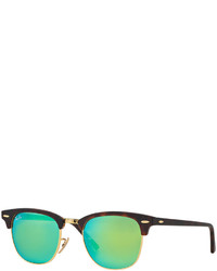 Ray-Ban Clubmaster Mirrored Sunglasses Rb3016 51