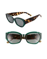 Pared Diamonds Pearls 54mm Square Cat Eye Sunglasses