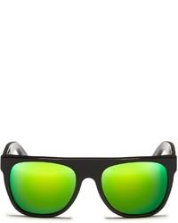 Super Flat Top Cove Black Mirror Sunglasses