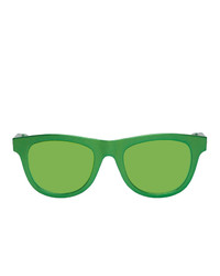 Bottega Veneta Green Aluminum Sunglasses