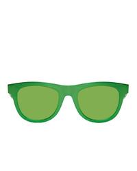 Bottega Veneta Green D Frame Sunglasses