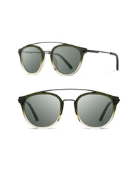 Shwood Kinsrow 49mm Polarized Round Sunglasses