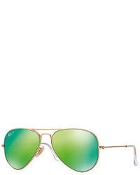 Ray-Ban Large Polar Flash Aviator 58mm Sunglasses