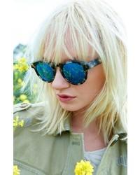 9f0422bc8c2 ... Illesteva Leonard 47mm Sunglasses Amber Tortoise Pink Mirror