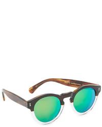 Illesteva Leonard Half Half Mirrored Sunglasses