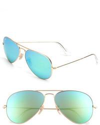 Original aviator 58mm sunglasses silver grey mirror medium 277504