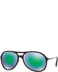 Ray-Ban Plastic Aviator Sunglasses With Mirror Lenses Green