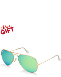 Ray-Ban Polarized Original Aviator Mirrored Sunglasses Rb3025 58