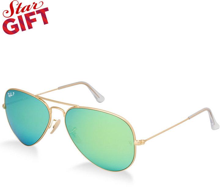 c7d89d57bf ... Ray-Ban Polarized Original Aviator Mirrored Sunglasses Rb3025 58 ...