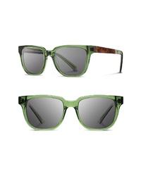 Shwood Prescott 52mm Acetate Wood Sunglasses