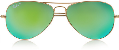 polarized mirrored aviator sunglasses  Ray-Ban Aviator Metal Polarized Mirrored Sunglasses