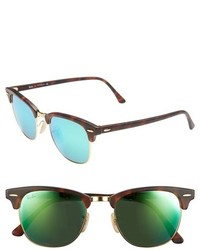 Ray-Ban Clubmaster 51mm Sunglasses Blue Mirror