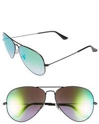 Ray-Ban Icons 62mm Aviator Sunglasses Black Green