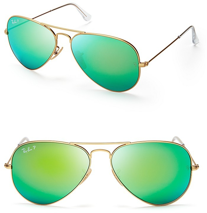 ray ban mirrored polarized sunglasses  ray ban polarized mirrored aviator sunglasses 58mm