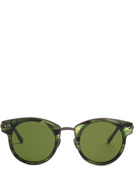 Bottega Veneta Round Frame Acetate Sunglasses