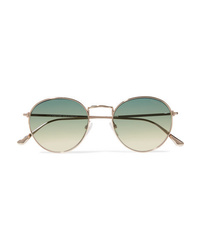 Tom Ford Round Frame Gold Tone Sunglasses