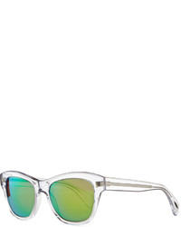 Oliver Peoples Sofee 53mm Polarized Sunglasses Clearmirror Green