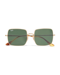 Ray-Ban Square Frame Gold Tone Sunglasses