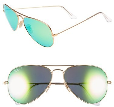 66f282165d1 ... Ray-Ban Standard Icons 58mm Mirrored Polarized Aviator Sunglasses ...