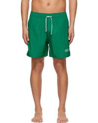 Amiri Green Logo Swim Shorts