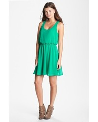 Lush Drew Blouson Tank Dress Green Small
