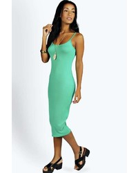 Boohoo Nicole Strappy Bodycon Midi Dress