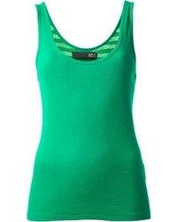 285 Sequinned Ribbed Tank Top