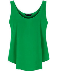 Dorothy Perkins Green Scoop Built Up Cami