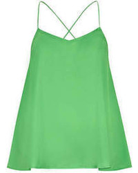 Alice & You Green Satin Cami Top