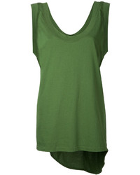 Bassike Scoop Neck Tail Tank Top