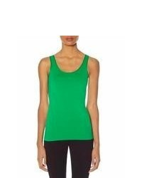 The Limited Satin Trim Seamless Tank Green M
