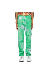 MSGM Green Tie Dye Jeans