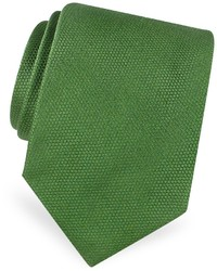 Gold line solid woven silk tie medium 165656